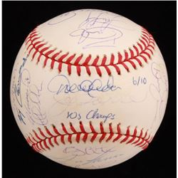 2000 New York Yankees LE World Champions Team-Signed 2000 World Series Baseball by (28) with Derek J