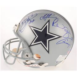 """Emmitt Smith, Troy Aikman  Michael """"Playmaker"""" Irvin Signed Dallas Cowboys Full-Size Authentic On-Fi"""