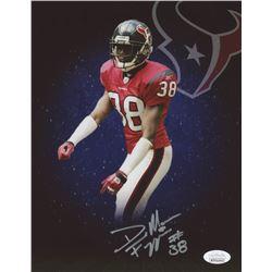 DeMarcus Faggins Signed Houston Texans 8x10 Photo (JSA COA)
