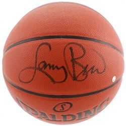 Larry Bird Signed NBA Game Ball Series Basketball (Steiner COA)