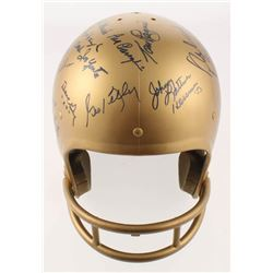 Irish Legends Notre Dame Fighting Irish Full-Size Helmet Signed by (20) with Nick Buoniconti, Johnny