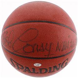 "Bob Cousy Signed NBA Basketball Inscribed ""NBA Top 50"" (JSA COA)"