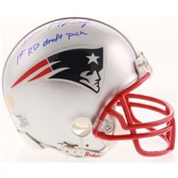 "Devin McCourty Signed New England Patriots Mini-Helmet Inscribed ""1st RD Draft Pick"" (JSA COA)"