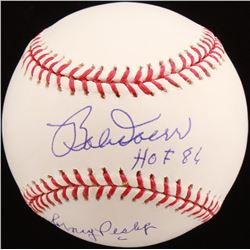 """Bobby Doerr  Johnny Pesky Signed OML Baseball Inscribed """"HOF 86"""" (JSA Hologram)"""