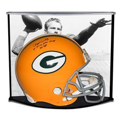 """Paul Hornung Signed LE Green Bay Packers Full-Size Authentic On-Field Helmet Inscribed """"HOF 86""""  """"4-"""