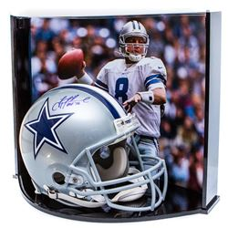 """Troy Aikman Signed LE Dallas Cowboys Full-Size Authentic On-Field Helmet Inscribed """"HOF '06"""" with Cu"""