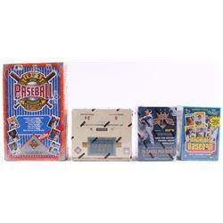 Lot of (4) Card Box Sets with 1992 Upper Deck Baseball Box, 2018 Topps Archives Baseball Box, 2014 P