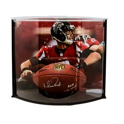 """Matt Ryan Signed Official NFL Game Ball Inscribed """"2016 NFL MVP"""" with Curve Display Case (Fanatics H"""