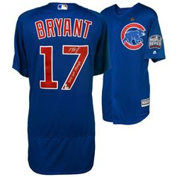 """Kris Bryant Signed Chicago Cubs 2016 World Series Jersey Inscribed """"2016 WS Champs"""" (MLB Hologram  F"""