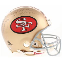 49ers Hall of Famers Signed San Francisco 49ers Full-Size Authentic On-Field Helmet Signed by (9) wi