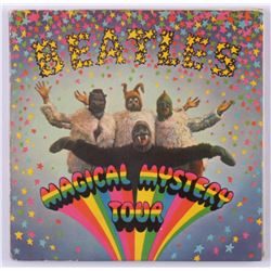 "George Harrison  John Lennon Signed The Beatles ""Magical Mystery Tour"" EP Vinyl Record Album Cover ("