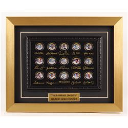 "Merrick Mint ""All-Time Legends"" 13x16 Custom Framed Commemorative 24k Gold Coin Set Display with Bab"