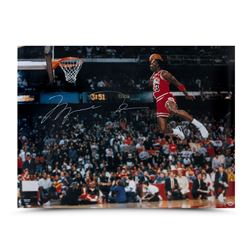 Michael Jordan Signed Chicago Bulls 30x40 Photo (UDA COA)