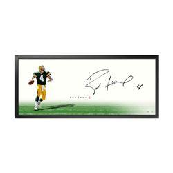 """Brett Favre Signed """"The Show"""" 20x46 Custom Framed Photo (UDA COA)"""