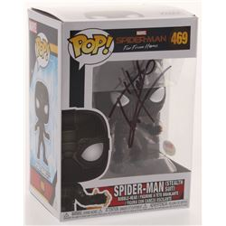 """Tom Holland Signed """"Spider-Man: Far From Home"""" #469 Spider-Man Stealth Suit Funko Pop Figure (PSA CO"""