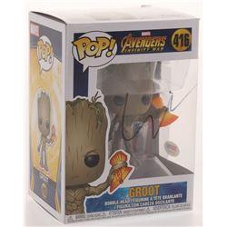 "Vin Diesel Signed ""Avengers Infinity War"" #416 Groot Funko Pop Figure (PSA COA)"