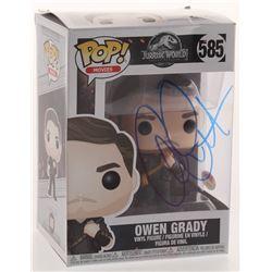 "Chris Pratt Signed ""Jurassic World"" #585 Owen Grady Funko Pop Figure (PSA COA)"