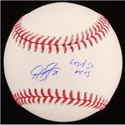 "Edwin Diaz Signed OML Baseball Inscribed ""Let's Go Mets"" (JSA COA)"