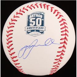 Jeff Bagwell Signed Houston Astros 50th Anniversary OML Baseball (JSA COA)