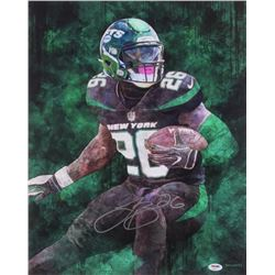 Le'Veon Bell Signed New York Jets 16x20 Photo (PSA COA)