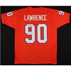 "Dexter Lawrence Signed Jersey Inscribed ""2x National Champs"" (JSA COA)"