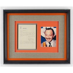 Mel Blanc Signed 17x21 Custom Framed Handwritten Letter Display (PSA ALOA)