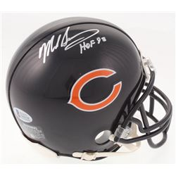 "Mike Singletary Signed Chicago Bears Mini Helmet Inscribed ""HOF 98"" (Beckett COA)"