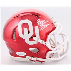 Brian Bosworth Signed Oklahoma Sooners Chrome Speed Mini-Helmet (JSA COA)