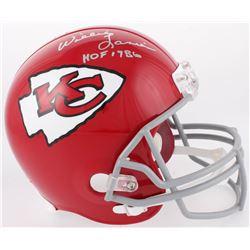 "Willie Lanier Signed Kansas City Chiefs Full-Size Helmet Inscribed ""HOF 1986"" (JSA COA)"