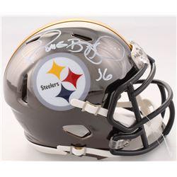 Jerome Bettis Signed Pittsburgh Steelers Chrome Speed Mini Helmet (Beckett COA)