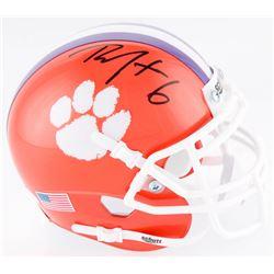 DeAndre Hopkins Signed Clemson Tigers Mini Helmet (JSA COA)