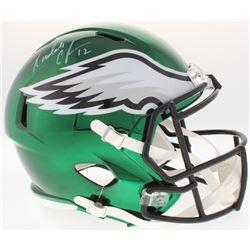 Randall Cunningham Signed Philadelphia Eagles Full-Size Chrome Speed Helmet (JSA COA)