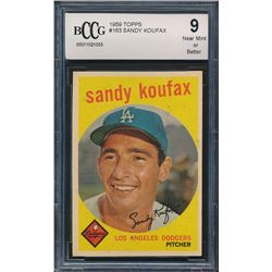 1959 Topps #163 Sandy Koufax (BCCG 9)