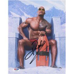 "Dwayne Johnson Signed ""Baywatch"" 8x10 Photo (PSA COA)"