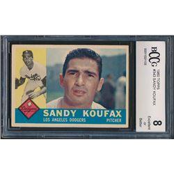 1960 Topps #343 Sandy Koufax (BCCG 8)