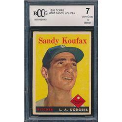 1958 Topps #187 Sandy Koufax (BCCG 7)