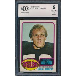 1976 Topps #220 Jack Lambert AP RC (BCCG 9)