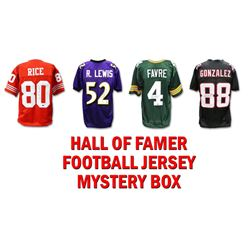 Schwartz Sports Football Hall of Famer Signed Mystery Box Football Jersey Series 4- (Limited to 75)