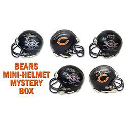 Chicago Bears Signed Mystery Box SB XX Champs Mini Helmet – Series 6 - (Limited to 85) *Walter Pay