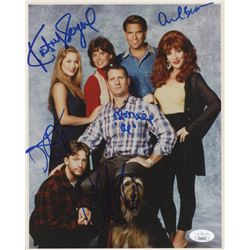 """""""Married With Chidren"""" 8x10 Photo Signed by (5) with Ed O'Neill, Katey Sagal, Christina Applegate, D"""