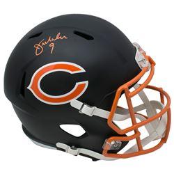 Jim McMahon Signed Chicago Bears Full-Size Matte Black Speed Helmet (JSA COA)