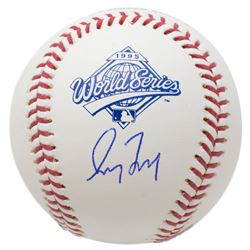 Greg Maddux Signed Official 1995 World Series Logo Baseball (JSA COA)