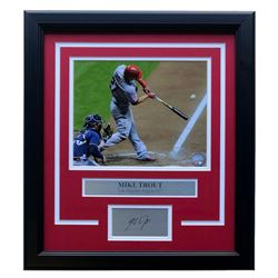 Mike Trout Los Angeles Angels 17x19 Custom Framed Photo Display