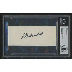 Muhammad Ali Signed 2.25x5 Cut (Beckett Encapsulated)