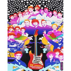 Peter Max Signed 30th Annual Rock  Roll Hall of Fame 11x14 Photo (JSA LOA)