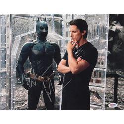 "Christian Bale Signed ""The Dark Knight"" 11x14 Photo (PSA COA)"