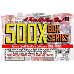 """MYSTERY 500X SERIES"" A True Sports Card Mystery Box!"