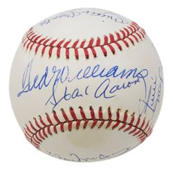 OAL Baseball Signed by (11) with Mickey Mantle, Ted Williams, Hank Aaron, Willie Mays, Ernie Banks,