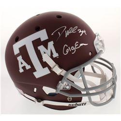 "Dante Hall Signed Texas AM Aggies Full-Size Helmet Inscribed ""Gig Em"" (Radtke COA)"