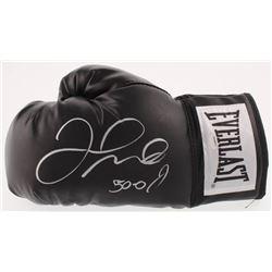 "Floyd Mayweather Signed Everlast Boxing Glove Inscribed ""50 - 0"" (Schwartz COA)"